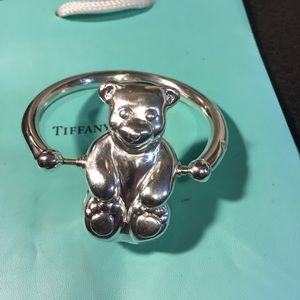Tiffany & Co Teddy Bear Baby Rattle RTRD